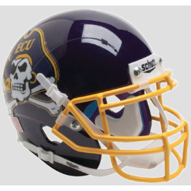 East Carolina Pirates Yellow Mask Schutt XP Authentic Full Size Football Helmet