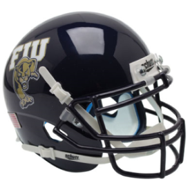 Florida International Golden Panthers Black Schutt XP Authentic Mini Football Helmet
