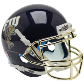 Florida International Golden Panthers Chrome Mask Schutt XP Authentic Mini Football Helmet