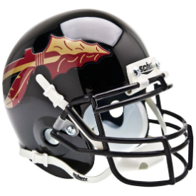 Florida State Seminoles Black Schutt XP Authentic Mini Football Helmet