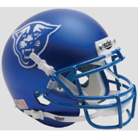 Georgia State Panthers Satin Blue Schutt XP Authentic Mini Football Helmet