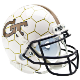 Georgia Tech Yellow Jackets Honeycomb Schutt XP Authentic Mini Football Helmet