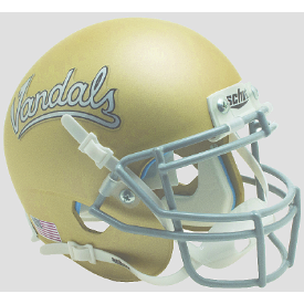 Idaho Vandals Matte Gold Schutt XP Authentic Mini Football Helmet