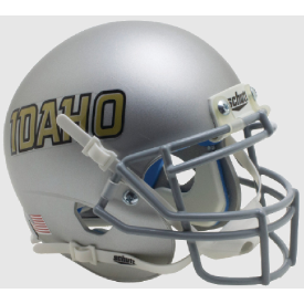 Idaho Vandals Silver Schutt XP Authentic Mini Football Helmet