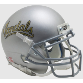 Idaho Vandals Silver Vandals Schutt XP Authentic Mini Football Helmet