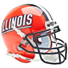 Illinois Fighting Illini Schutt XP Authentic Mini Football Helmet