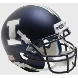 Illinois Fighting Illini Matte Blue Schutt XP Authentic Mini Football Helmet