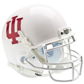 Indiana Hoosiers White Schutt XP Authentic Mini Football Helmet