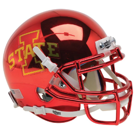 Iowa State Cyclones Chrome Schutt XP Authentic Mini Football Helmet