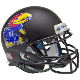 Kansas Jayhawks Matte Black Schutt XP Authentic Mini Football Helmet