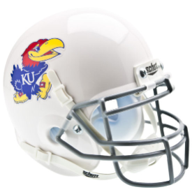 Kansas Jayhawks White Schutt XP Authentic Mini Football Helmet