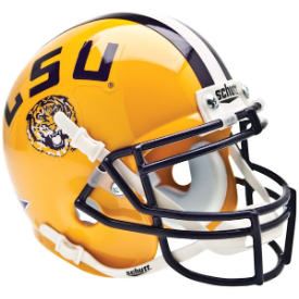 LSU Tigers Schutt XP Authentic Mini Football Helmet