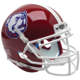 Louisiana Tech Bulldogs Bulldog Schutt XP Authentic Mini Football Helmet