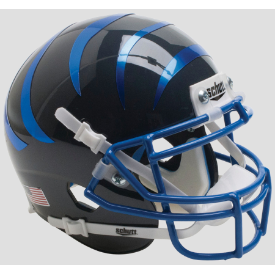 Memphis Tigers Black w/Blue Stripes Schutt XP Authentic Mini Football Helmet