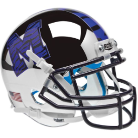 Memphis Tigers Chrome Schutt XP Authentic Mini Football Helmet