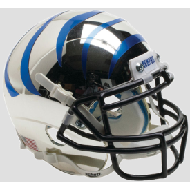 Memphis Tigers Chrome w/Blue Stripes Schutt XP Authentic Mini Football Helmet