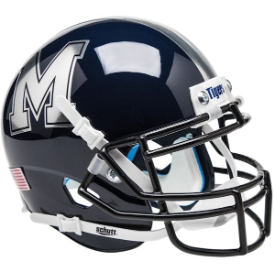 Memphis Tigers Chrome Decal Schutt XP Authentic Mini Football Helmet