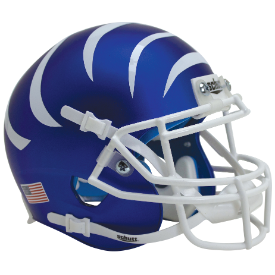 Memphis Tigers Matte Blue w/White Stripes Schutt XP Authentic Mini Football Helmet
