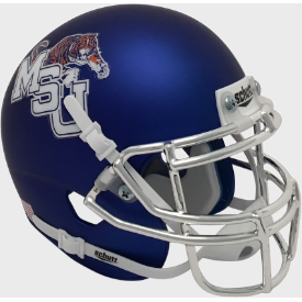 Memphis Tigers Satin Blue Schutt XP Authentic Mini Football Helmet