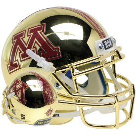 Minnesota Golden Gophers Gold Chrome Schutt XP Authentic Mini Football Helmet