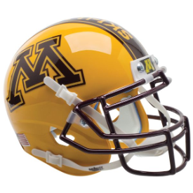 Minnesota Golden Gophers Gold Schutt XP Authentic Mini Football Helmet