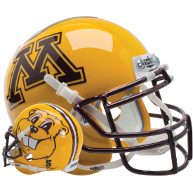 Minnesota Golden Gophers Goldy Gopher Schutt XP Authentic Mini Football Helmet