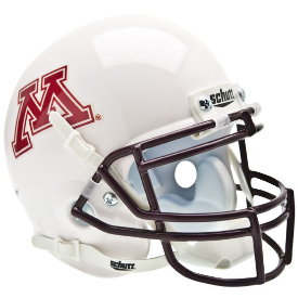 Minnesota Golden Gophers White Schutt XP Authentic Mini Football Helmet