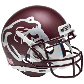 Mississippi State Bulldogs Matte Maroon Schutt XP Authentic Mini Football Helmet