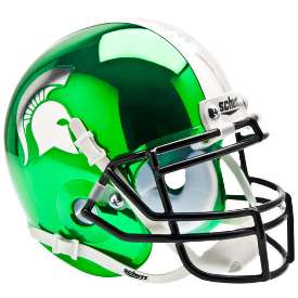 Michigan State Spartans Chrome Schutt XP Authentic Mini Football Helmet