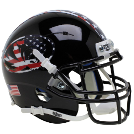 Missouri Tigers Black Patriot Tiger Schutt XP Authentic Mini Football Helmet
