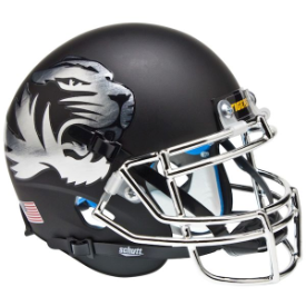 Missouri Tigers Chrome Logo Schutt XP Authentic Mini Football Helmet