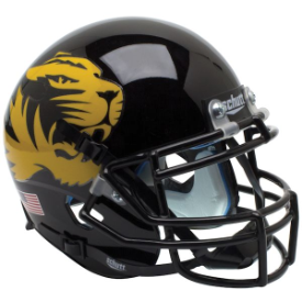 Missouri Tigers Large Tiger Schutt XP Authentic Mini Football Helmet