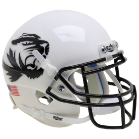 Missouri Tigers Large White Tiger Schutt XP Authentic Mini Football Helmet
