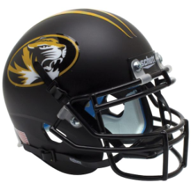 Missouri Tigers Matte Black Schutt XP Authentic Mini Football Helmet