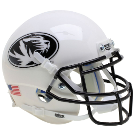 Missouri Tigers White Tiger Schutt XP Authentic Mini Football Helmet