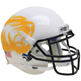 Missouri Tigers White Yellow Tiger Schutt XP Authentic Mini Football Helmet