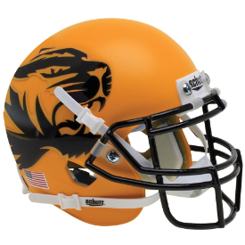Missouri Tigers Yellow Large Tiger Schutt XP Authentic Mini Football Helmet