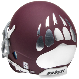 Montana Grizzlies Matte Maroon Schutt XP Authentic Mini Football Helmet