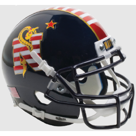 Navy Midshipmen Don't Tread on Me Schutt XP Authentic Mini Football Helmet