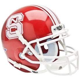 North Carolina State Wolfpack Red Schutt XP Authentic Mini Football Helmet