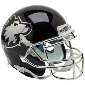 Northern Illinois Huskies Chrome Mask Schutt XP Authentic Mini Football Helmet