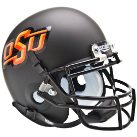 Oklahoma State Cowboys Matte Black Schutt XP Authentic Mini Football Helmet
