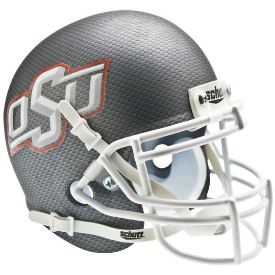Oklahoma State Cowboys Carbon Fiber Schutt XP Authentic Mini Football Helmet