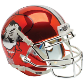 Oklahoma State Cowboys Pistol Pete Chrome Schutt XP Authentic Mini Football Helmet
