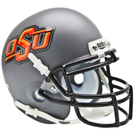 Oklahoma State Cowboys Gray Schutt XP Authentic Mini Football Helmet