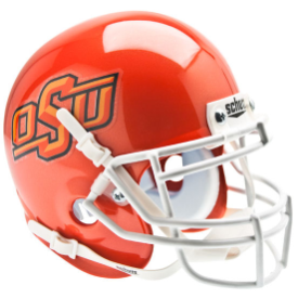 Oklahoma State Cowboys Orange Schutt XP Authentic Mini Football Helmet