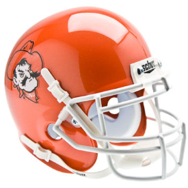 Oklahoma State Cowboys Pistol Pete Orange Schutt XP Authentic Mini Football Helmet