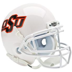 Oklahoma State Cowboys White Schutt XP Authentic Mini Football Helmet