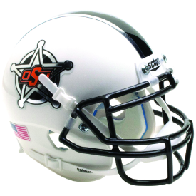 Oklahoma State Cowboys White Badge Schutt XP Authentic Mini Football Helmet