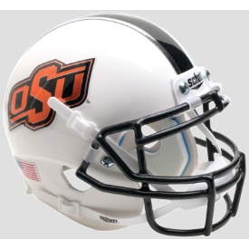 Oklahoma State Cowboys WH/BK/GY Schutt XP Authentic Mini Football Helmet